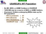 usareur s wt population