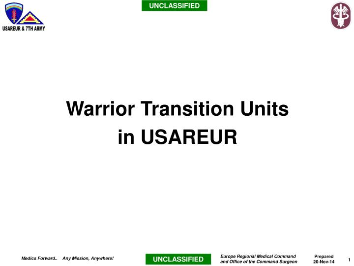 warrior transition units in usareur n.