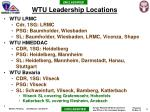 wtu leadership locations