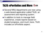 tk20 eportfolios and more