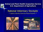 animal and plant health inspection service u s department of agriculture