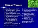 disease threats