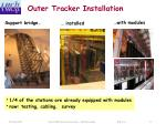 outer tracker installation