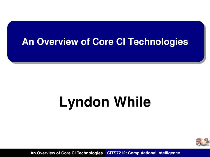 an overview of core ci technologies n.