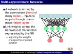 multi layered neural networks