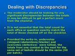 dealing with discrepancies