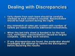 dealing with discrepancies1