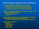 recruiting counters checkers