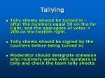 tallying
