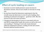 effect of cyclic loading on cavern