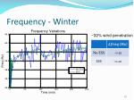 frequency winter