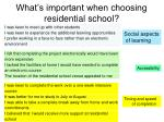 what s important when choosing residential school