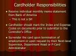 cardholder responsibilities1
