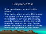 compliance visit