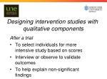 designing intervention studies with qualitative components2