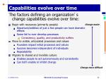 capabilities evolve over time