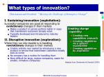 what types of innovation