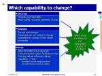 which capability to change