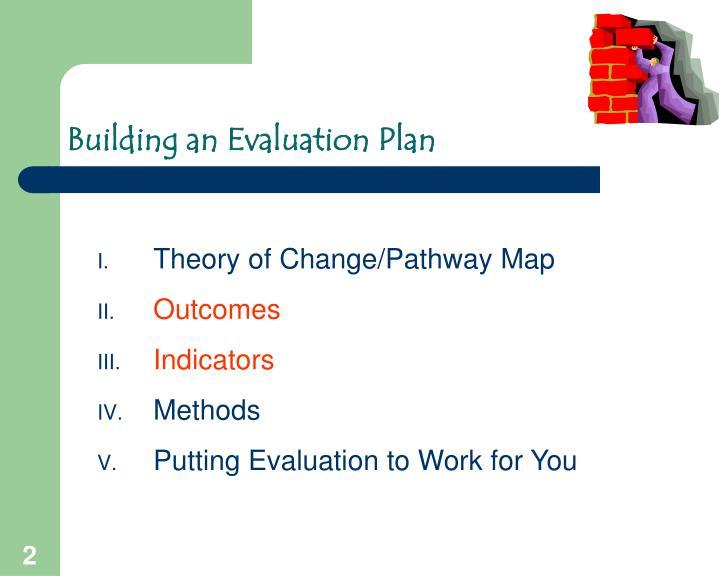 Building an evaluation plan