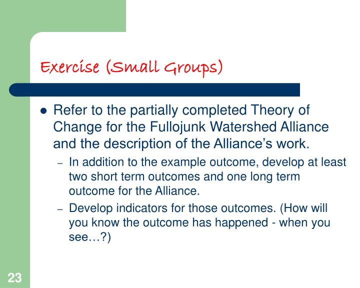 Exercise (Small Groups)