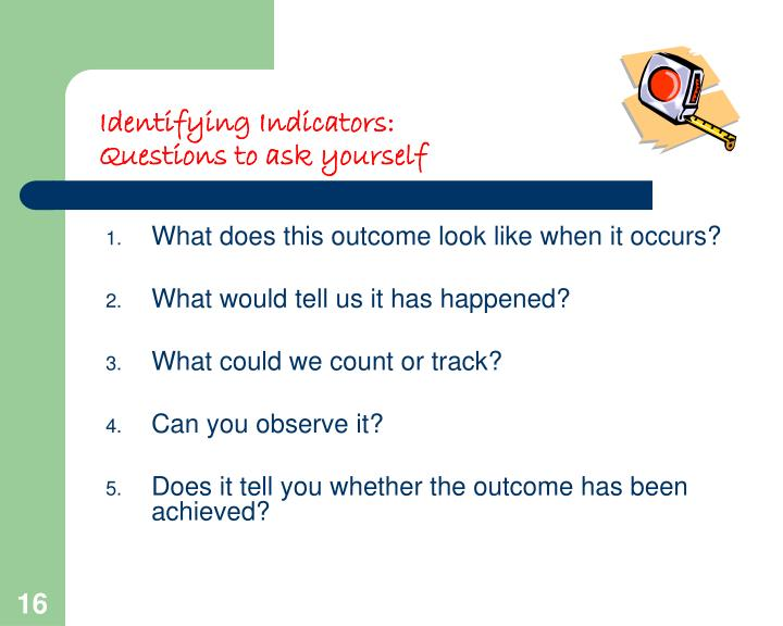 Identifying Indicators: