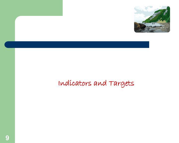 Indicators and Targets