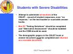 students with severe disabilities
