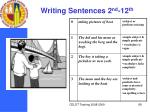 writing sentences 2 nd 12 th