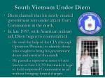 south vietnam under diem