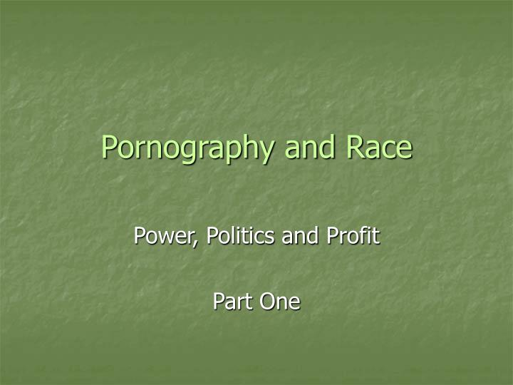 pornography and race n.