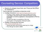 counseling service competitors