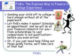 finex the express way to finance the college experience