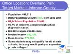 office location overland park target market johnson county