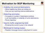 motivation for bgp monitoring