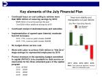 key elements of the july financial plan