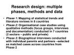 research design multiple phases methods and data