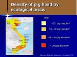 density of pig head by ecological areas