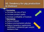 vi tendency for pig production in vietnam