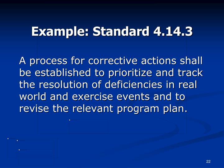 Example: Standard 4.14.3