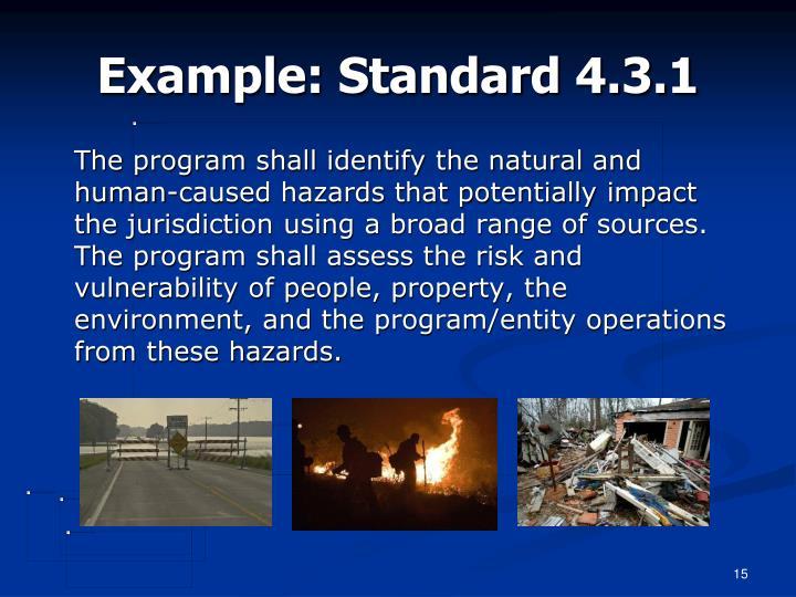 Example: Standard 4.3.1