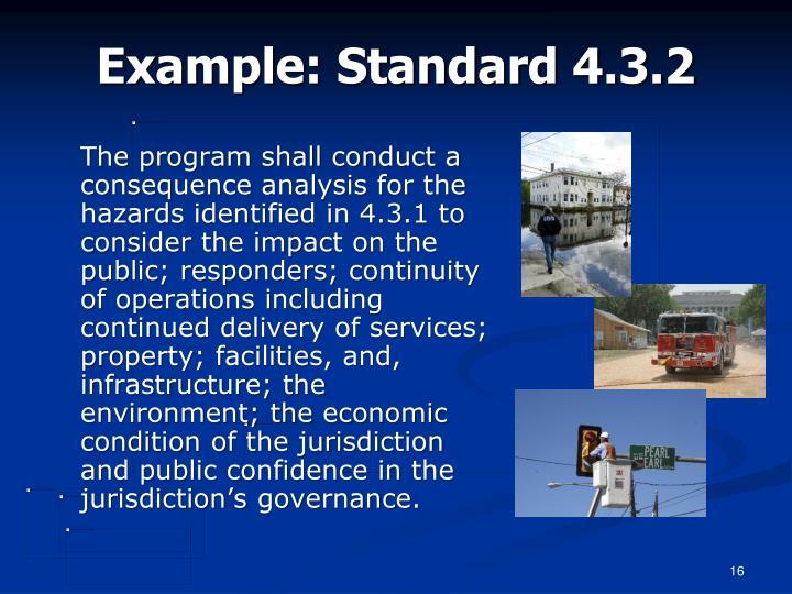 Example: Standard 4.3.2