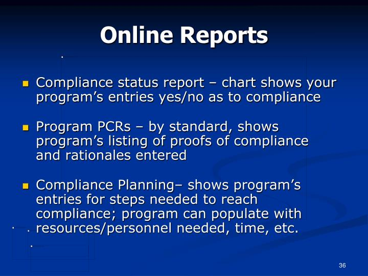 Online Reports