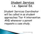 student services i e special ed