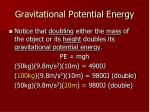 gravitational potential energy2