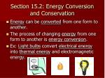 section 15 2 energy conversion and conservation