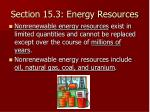 section 15 3 energy resources
