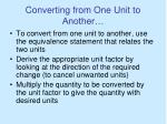 converting from one unit to another