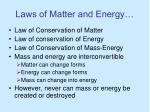 laws of matter and energy