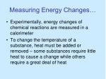 measuring energy changes