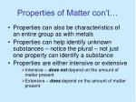 properties of matter con t